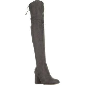 Charles by Charles David Ollie Over The Knee Lace Up Boots, Slate, 9.5 US