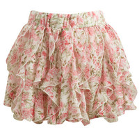 Chiffon Ruffle Mini Skit | Shop Bottoms at Wet Seal