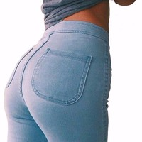 Women's Stretch High Waist Skinny Jeans