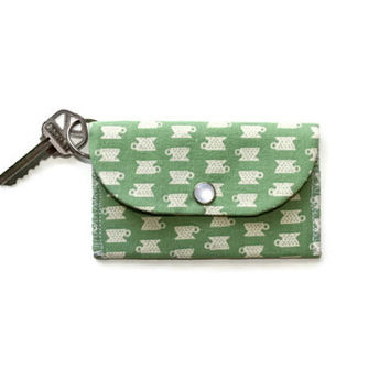 Keychain Wallet and Card Holder in Green