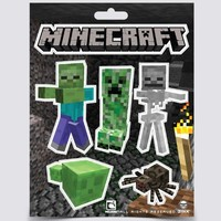(5x7) Minecraft - Monsters Sticker a single SHEET with 5 stickers