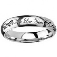 Ring - True Love Waits - Flowers (Stainless) - Sz 5