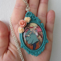 Howl's Moving Castle Necklace  - HOWL & SOPHIE - Romance mecklace - Hayao Miyazaki Necklace