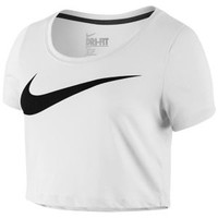 Nike Swoosh Crop Top - Women's at Lady Foot Locker