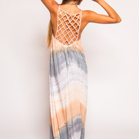 Tiare Hawaii Echo Beach Maxi Dress | Pink/Black/Peach