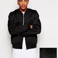 ASOS | ASOS Bomber Jacket In Neoprene at ASOS