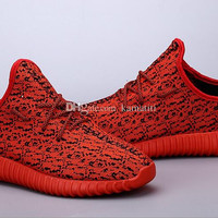 shoes running shoes New Color Full Red 350 boost red October Low Shoes Fashion Shoes Man Woman Shoes US5-US11.5