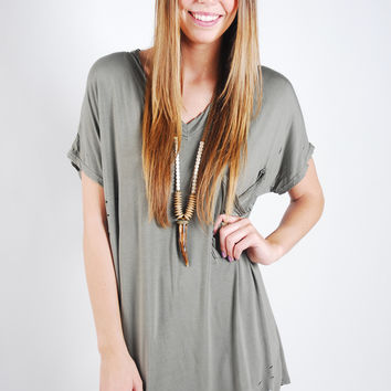 Lucky Find Tunic -Olive