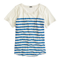 J.Crew Womens Linen Striped T-Shirt