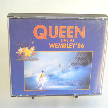 Queen Live at Wembley 1986 CD Vintage Used Music Classic Rock Superstar Pop Double CD Live Recording