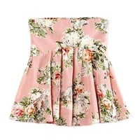 Floral Print High Waist Mini Skirt in Pink