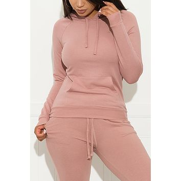 Set You On Track Sweater  Mauve