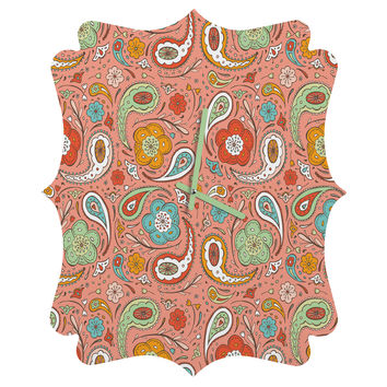 Heather Dutton Adora Paisley Quatrefoil Clock
