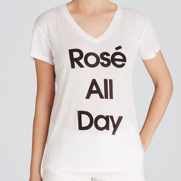 WILDFOX Tee - Rosé All Day