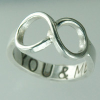 You & ME Infinity Symbol Ring Sterling Silver by Excognito on Etsy