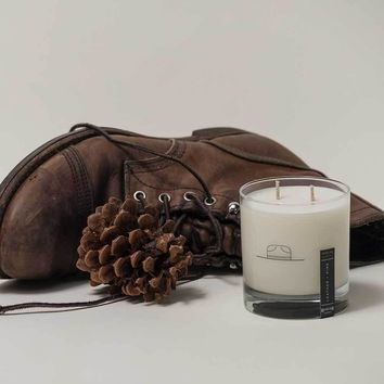 Ranger Station Leather + Pine Candle