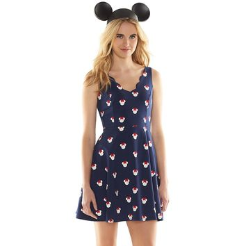 Disney's Minnie Mouse a Collection by LC Lauren Conrad Print Fit & Flare Dress