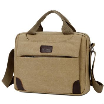 Fashion Vintage Messenger Bags Computer Laptop Handbag Men Casual Business Briefcase Canvas Shoulder Bag Men's Travel Bags