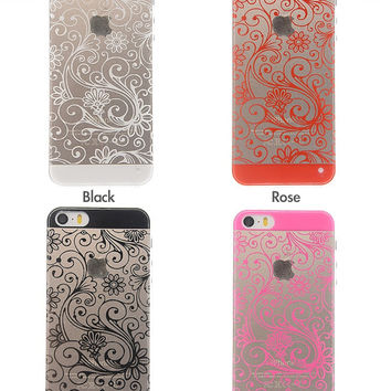 iPhone 5 5S case eco friendly floral plastic Silicone Phone Cover