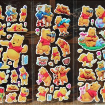 Winnie the Pooh wall stickers 3D DIY bubble toys