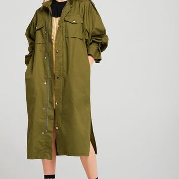 Melissa Oversized Khaki Trench Coat Discover the latest fashion trends online at storets.com
