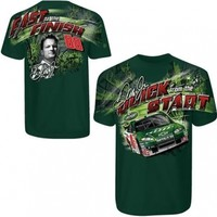 Dale Earnhardt Jr.,#88 AMP Chevy 2-Sided Full print Green new Extra Large (XL) Tee Shirt