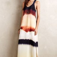 Silk Horizon Maxi Dress by HD in Paris Neutral Motif