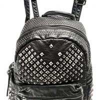 Backpack decorated with studs | Bags | Bags + Wallets | Accessories | Queen Of Darkness