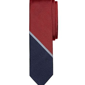 Mini BB#1 Color-Block Slim Tie - Brooks Brothers