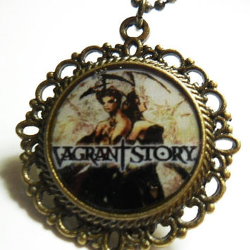 Vagrant Story video game pendant on ball chain - geeky necklace - gamer gifts - geek gifts - Rpg game necklace - photo pendant - gamer
