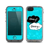 The Okay Speech Bubbles Over Collage Skin for the Apple iPhone 5c LifeProof Case
