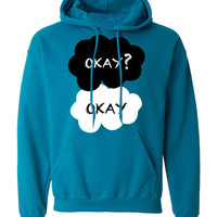 The Fault In Our Stars Okay Okay John Green TFIOS Unisex Hoodie Hooded Sweater Jumper Sweatshirt V2 Blue