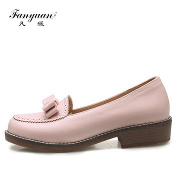 New Slip-on Women Loafers Ladies Casual Flat Elegant Bordered Oxford Shoes Women Flats sweet butter-fly knot Girls Shcool Shoes