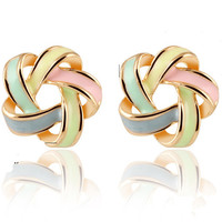 Korean Earring Fashion Stylish Twisted Earrings [6043185601]
