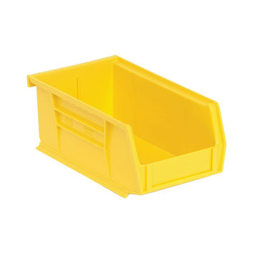 Quantum Storage Systems Ultra Stack And Hang Bin 7-3/8Lx 4-1/8Wx 3H - Yellow Pack Of 24