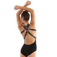 10069 : Capezio Cross Back Leotard