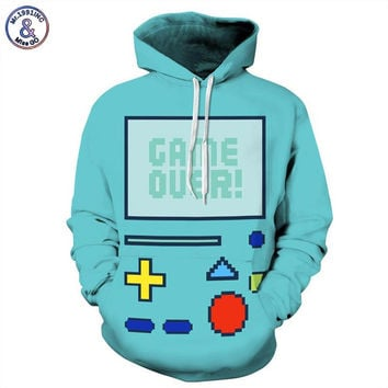 Hoodies Hooded 3d Sweatshirt  Adventure Time BMO