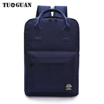 TUGUAN Fashion Men/Women Laptop Backpack Canvas College Student Back Pack Schoolbag Business Computer Bags for Teenager Girl