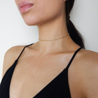 Taya - Gold Filled Delicate Ball Chain Choker
