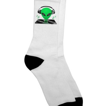 Alien DJ Adult Crew Socks