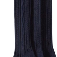 Jefferies Socks Big Girls'  School Uniform Acrylic Cable Knee High  (Pack of 3), Navy, Medium