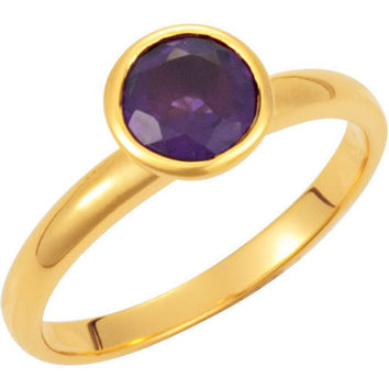 Missoma® 18k Yellow Gold Vermeil Amethyst Stackable Ring