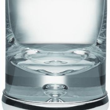 Sterling Silver and Krosno Hand Blown Glass Whisky Tumbler Hand Engraved Personalised