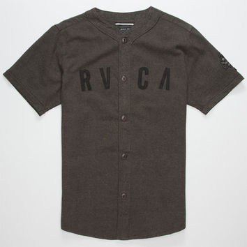 Rvca Strikeout Mens Baseball Jersey Charcoal  In Sizes