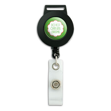 Do Not Open Until Christmas Retractable Badge Card ID Holder