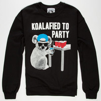 Riot Society Koalafied Mens Sweatshirt Black  In Sizes