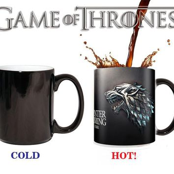 Game of Thrones stark Mugs winter is coming Color Changing Cups Sensitive Ceramic Tea La Copa Friends Gift