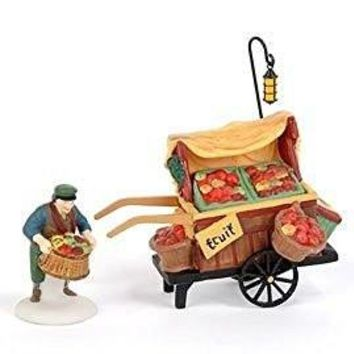Heritage Village Collection Chelsea Market Fruit Monger & Cart by Department 56