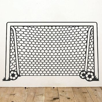 ik2922 Wall Decal Sticker Gate soccer children's bedroom