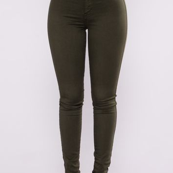 Perfectly Classic Jeans - Olive